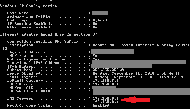 Find your router IP address