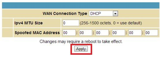 192.168.1.254 Router IP Address is Changed