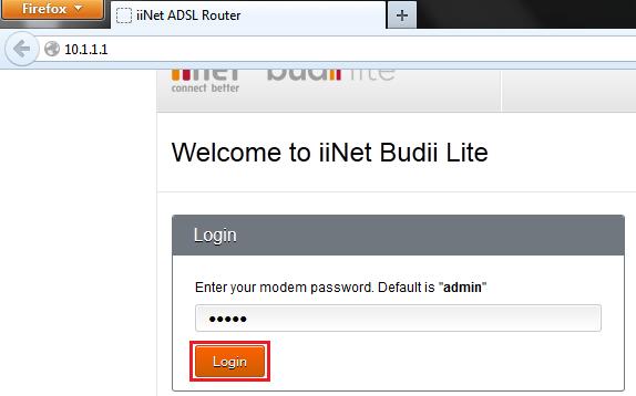 10.1.1.1 Admin Login