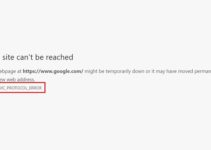 ERR_QUIC_PROTOCOL_ERROR in Chrome