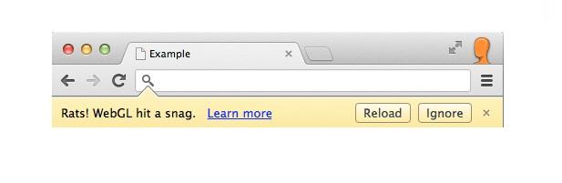 Rats! WebGL Hit A Snag Error in Google Chrome