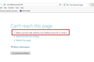 Res-aaResources-dll-104 Error in Internet Explorer